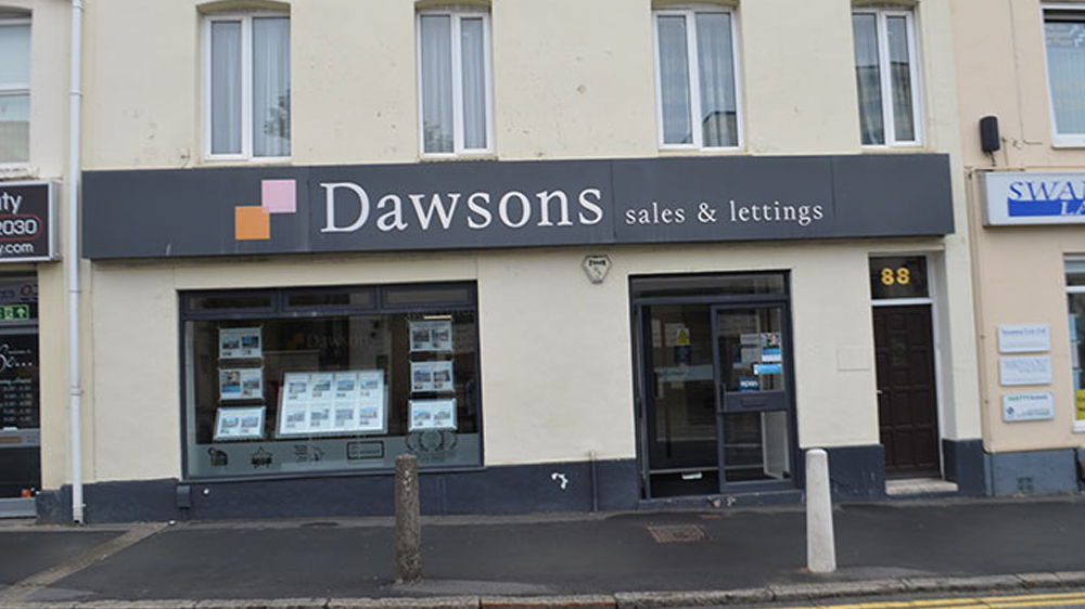 Front of Dawsons Sketty Sales branch
